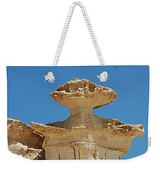 Smiling Stone Man Weekender Tote Bag by Linda Prewer
