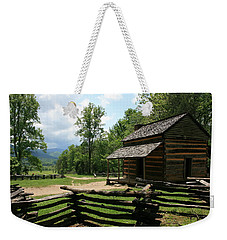 Smoky Mountain Cabin Weekender Tote Bag