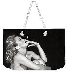 Smoking Nude  Weekender Tote Bag