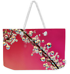 Smoking Pink Drops II Weekender Tote Bag