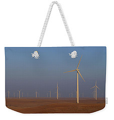 Weekender Tote Bag featuring the photograph Smoky Hills Wind Project by Ben Shields