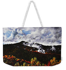 Weekender Tote Bag featuring the painting Smoky Mountain Angel Hair by Craig T Burgwardt