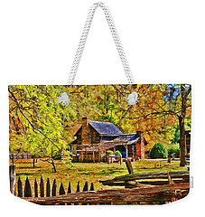 Smoky Mountain Homestead Weekender Tote Bag by Kenny Francis