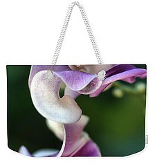 Weekender Tote Bag featuring the photograph Snail Flower by Joy Watson