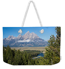 Weekender Tote Bag featuring the photograph Snake River Overlook by Michael Chatt