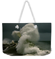 Snake Wave Weekender Tote Bag by Michael Cinnamond