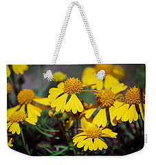 Weekender Tote Bag featuring the photograph Sneezeweed by Ester  Rogers