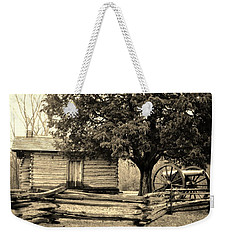 Snodgrass Cabin And Cannon Weekender Tote Bag by Daniel Thompson