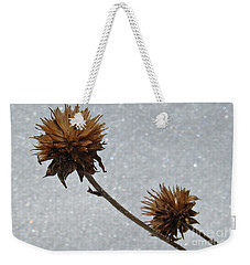 Snow And Thistles Weekender Tote Bag by Janice Westerberg
