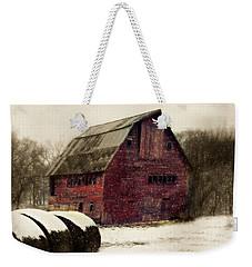 Snow Bales Weekender Tote Bag
