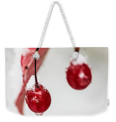 Snow Berries Weekender Tote Bag