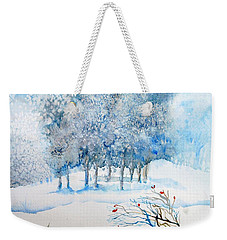 Snow Blizzard In The Grove  Weekender Tote Bag