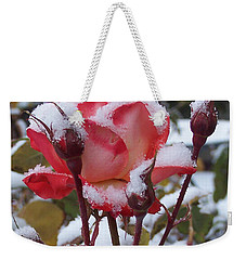 Snow Blooms Weekender Tote Bag