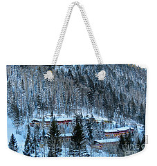 Snow Cabins Weekender Tote Bag