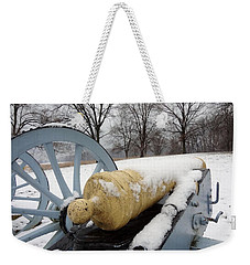 Snow Cannon Weekender Tote Bag by Michael Porchik