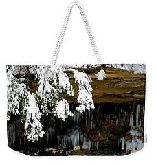 Snow Covered Pine Weekender Tote Bag