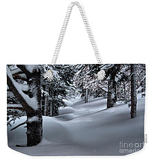 Snow Covered Trail Weekender Tote Bag