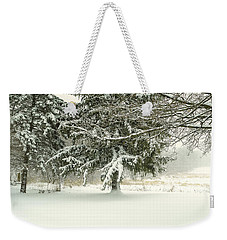 Snow-covered Trees Weekender Tote Bag