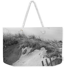 Snow Covered Sand Dunes Weekender Tote Bag