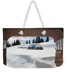 Snow Daze Weekender Tote Bag by Fiona Kennard