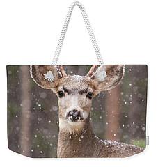 Snow Deer 1 Weekender Tote Bag