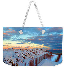 Snow Dunes At Sunrise Weekender Tote Bag