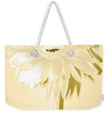 Snow Flake Zinnia Weekender Tote Bag
