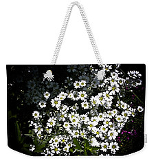 Weekender Tote Bag featuring the photograph Snow In Summer by Joann Copeland-Paul