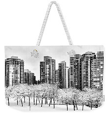 Snow In The City Weekender Tote Bag