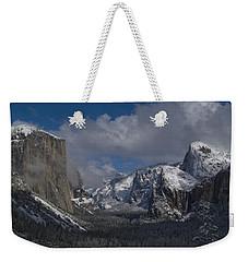 Snow Kissed Valley Weekender Tote Bag by Bill Gallagher
