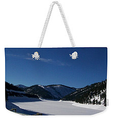 Snow Lake Weekender Tote Bag