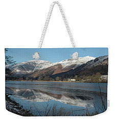 Snow Lake Reflections Weekender Tote Bag