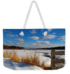 Weekender Tote Bag featuring the photograph Snow Marsh by Dianne Cowen