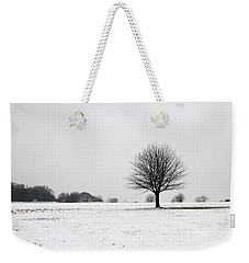 Snow On Epsom Downs Surrey England Uk Weekender Tote Bag
