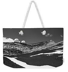 Snow On Mauna Kea Weekender Tote Bag by Venetia Featherstone-Witty