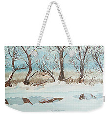 Snow On The Ema River 2 Weekender Tote Bag