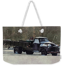 Snow On The Farm Weekender Tote Bag by Victor Montgomery