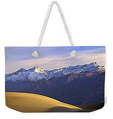 Snow On The Grapevine Range.  Weekender Tote Bag