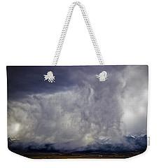 Snow On The Rockies Weekender Tote Bag by Greg Reed
