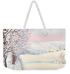 Snow Path Weekender Tote Bag by Inese Poga