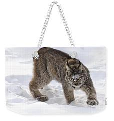 Snow-shovelling Lynx Weekender Tote Bag
