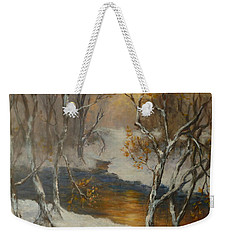 Snow Sunset Paintings Weekender Tote Bag