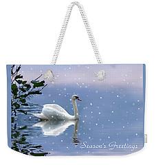Snow Swan  Weekender Tote Bag