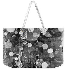 Snow Time Holly Michigan Weekender Tote Bag