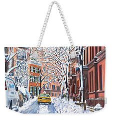 Snow West Village New York City Weekender Tote Bag by Anthony Butera