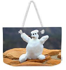 Snowball Snowman Weekender Tote Bag