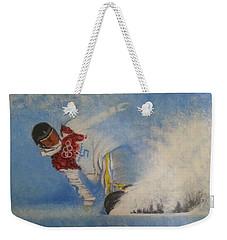 Snowboarder Weekender Tote Bag
