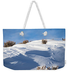 Snowdrifts Weekender Tote Bag by Nadja Rider