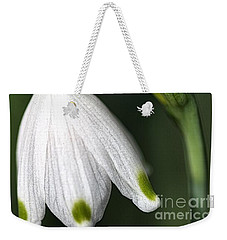 Weekender Tote Bag featuring the photograph Snowdrop by Joy Watson