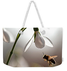 Snowdrops And The Bee Weekender Tote Bag by Torbjorn Swenelius